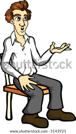 Person Sitting In Chair Clip Art Man sitting on a chair - stockPerson Sitting On Chair Clipart