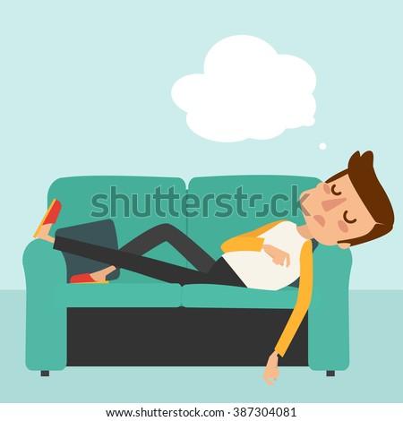 man sleep on sofa