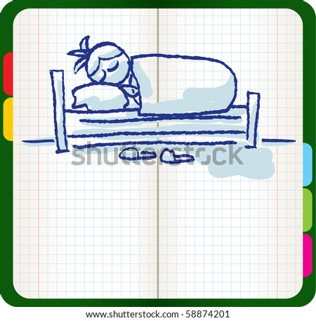man sleeping in the bed