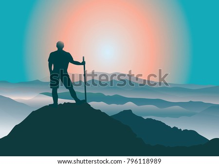 man standing on the top of