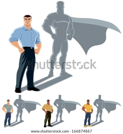 man superhero concept