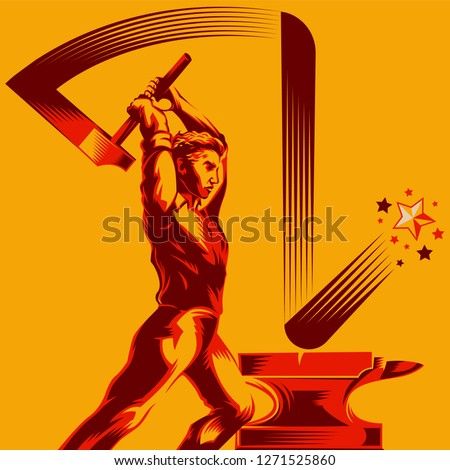 man swinging a sledge hammer on