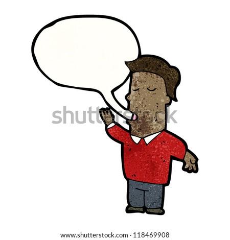man talking cartoon