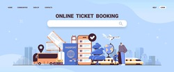 man traveler with baggage buying or searching tickets in mobile app online ticket booking traveling concept