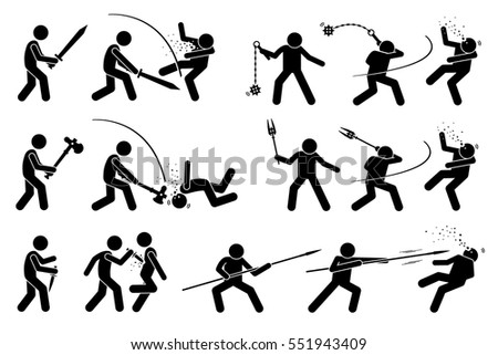 flail weapon download free vector art stock graphics images