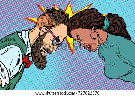 man vs woman  confrontation and