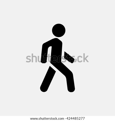 Shutterstock Man walk icon.