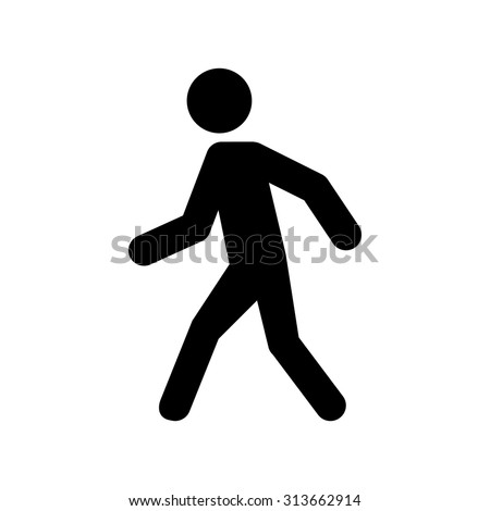 vector images illustrations and cliparts man walk icon vector illustration hqvectors com hqvectors com