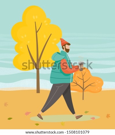man walking in forest or wood