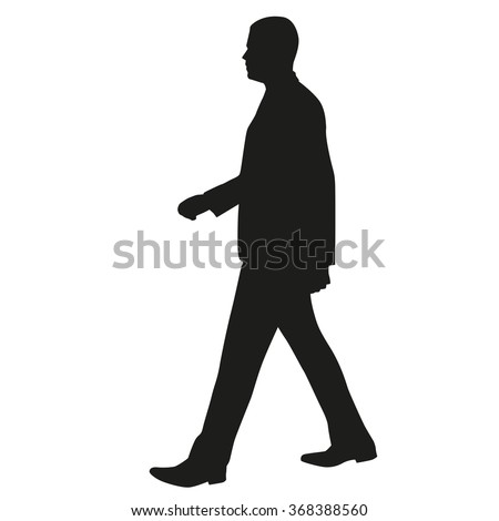 man walking side view  vector