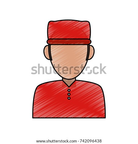 man wearing red hat avatar icon