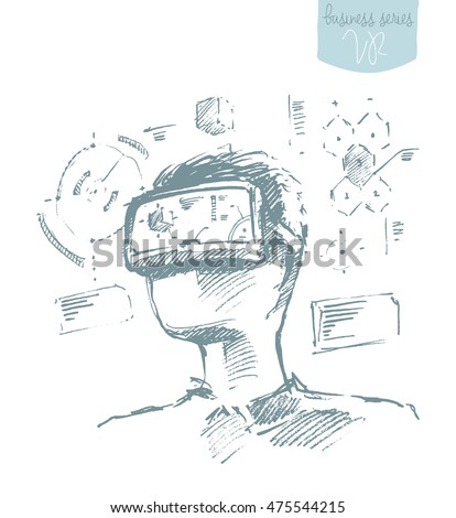 man wearing virtual reality