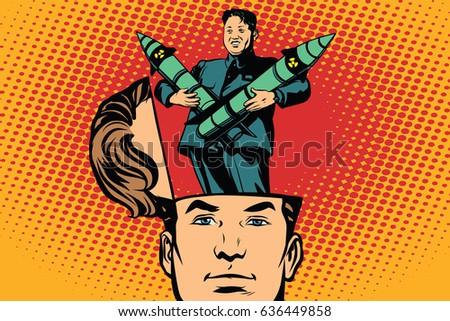 man with an open head kim jong