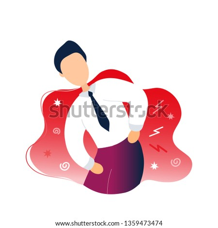Man with backache problems. Flat modern trendy style.Vector illustration character icon. Isolated on white background.