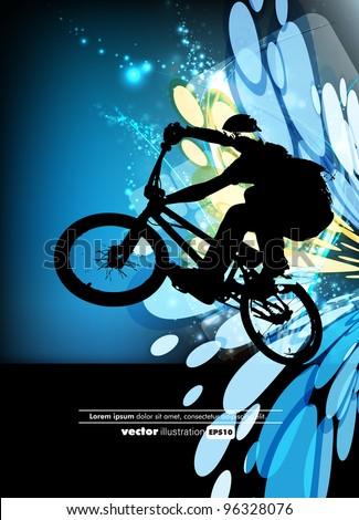 man with bmx bike