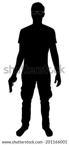 stock-vector-man-with-gun-vector