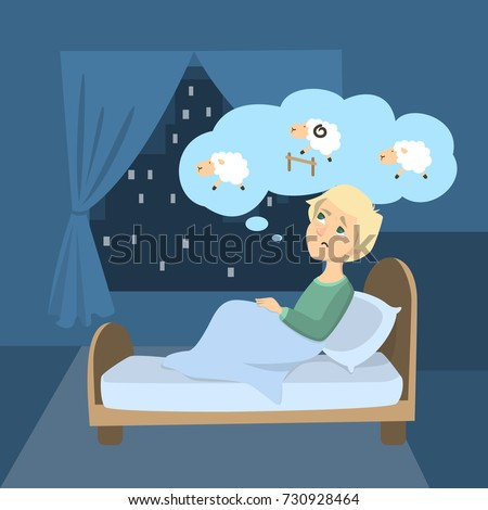 man with insomnia trying to