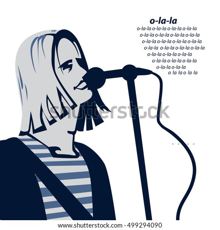 man with long hair is singing