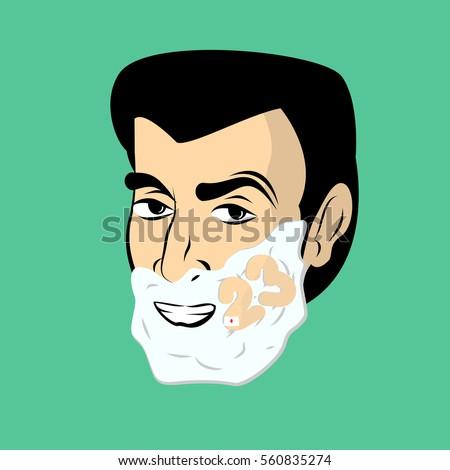 man with shaving foam guy