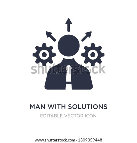 man with solutions icon on white background. Simple element illustration from Business concept. man with solutions icon symbol design.