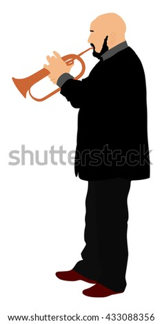 man with trumpet on stage