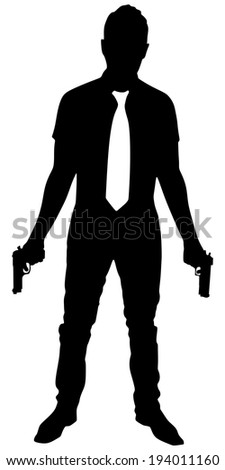 man with two guns  vector