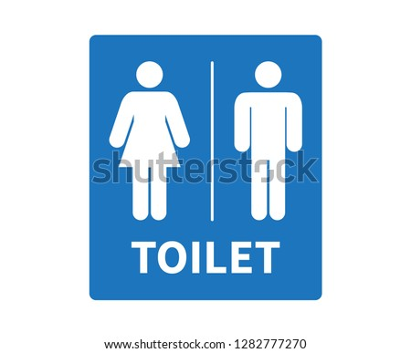 Man & Woman restroom sign. toilet sign, restroom icon, vector illustration.