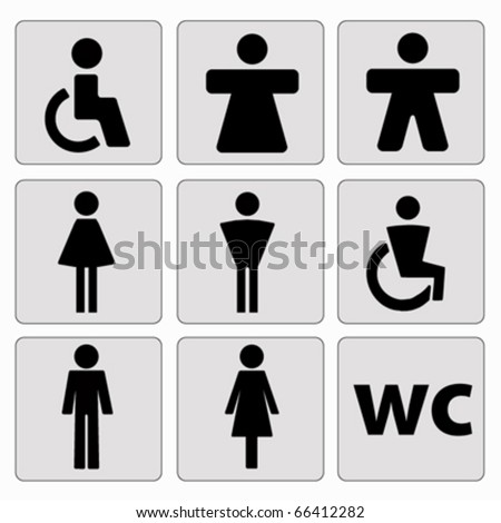 man woman toilet signs . vector