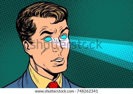 man x ray eyes  scanning pop