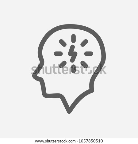 Manage stress icon line symbol. Isolated vector illustration of  icon sign concept for your web site mobile app logo UI design.