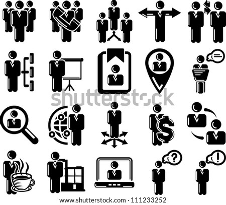 Management and human resource 20 icons - stock vector