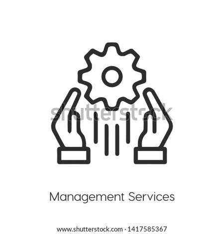 management services icon. Hotline vector. management services. management services vector icon sign symbol.symbol