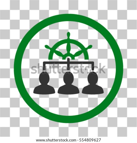 White Management Steering Wheel Vector Pictogram Illustration Style Is Flat Iconic Bicolor Green And Gray Rounded