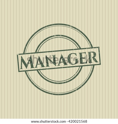 Manager grunge style stamp