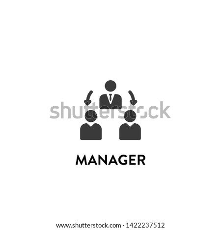manager icon vector. manager vector graphic illustration