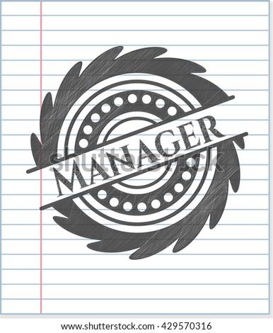 Manager pencil strokes emblem