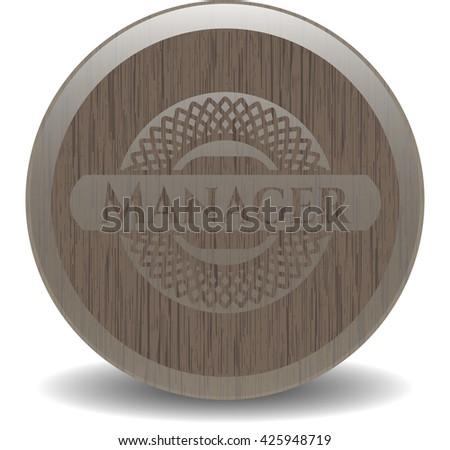 Manager retro wood emblem
