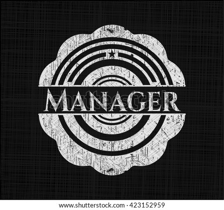 Manager with chalkboard texture