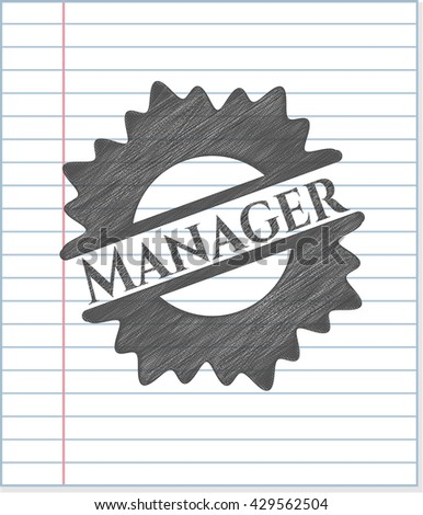 Manager with pencil strokes