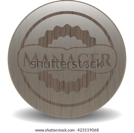Manager wooden emblem