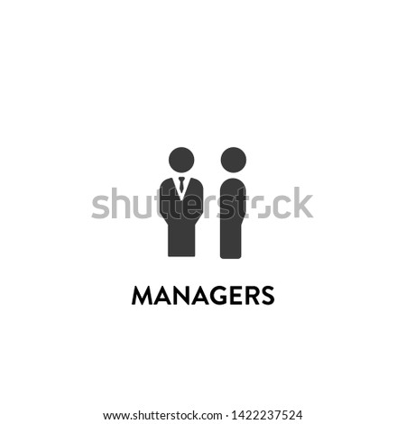 managers icon vector. managers vector graphic illustration
