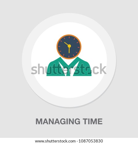 managing time icon, vector time management concept. business symbol