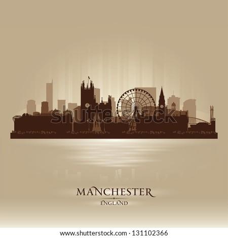 manchester england skyline city