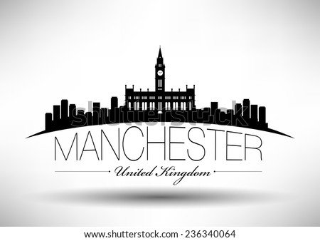 manchester skyline with