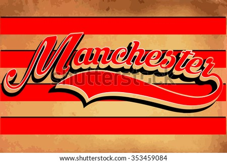 manchester typography sports