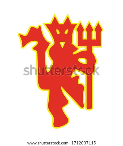 Manchester United the Red Devils Football Premier League Club professional football club based in Old Trafford most successful club England English logo icon symbol vector template