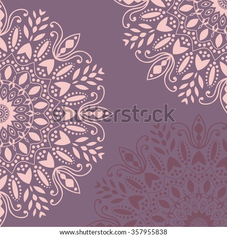 Mandala Background Vintage Pattern With Round Ornament Decorative
