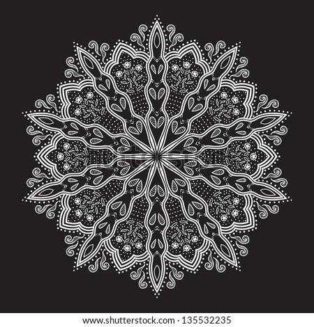 Flower Mandala Iphone Wallpaper Beautiful Hand-drawn Flower