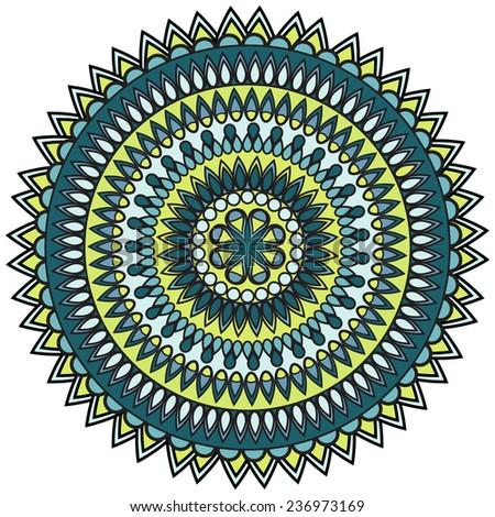 mandala. circle ornament