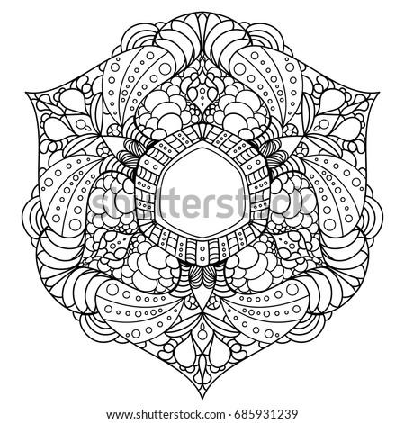 Mandala. Decorative round ornaments. Unusual flower shape.